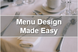 Restaurant menu design -  Business webinar